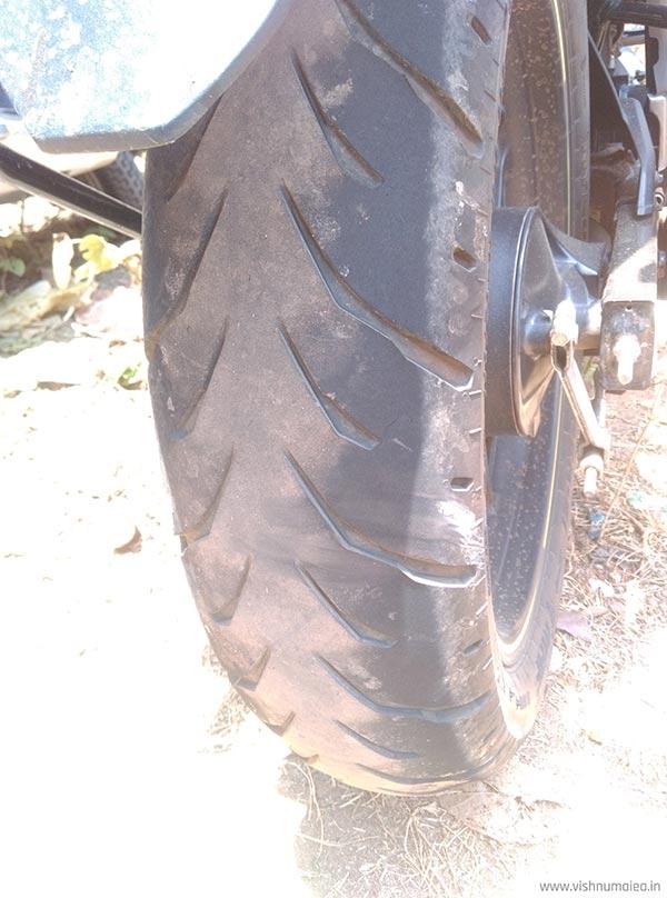 honda cb hornet 160r cbs rear tyre wear