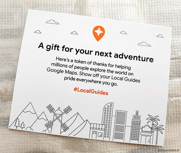 Google Local Guides special perks card.