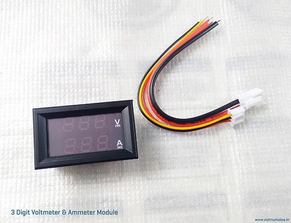 Three digit voltmeter ammeter
