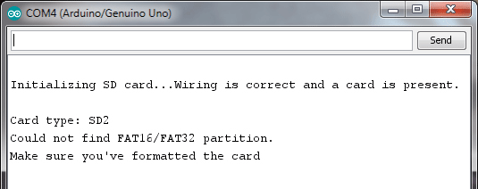 SD Card Not Formatted