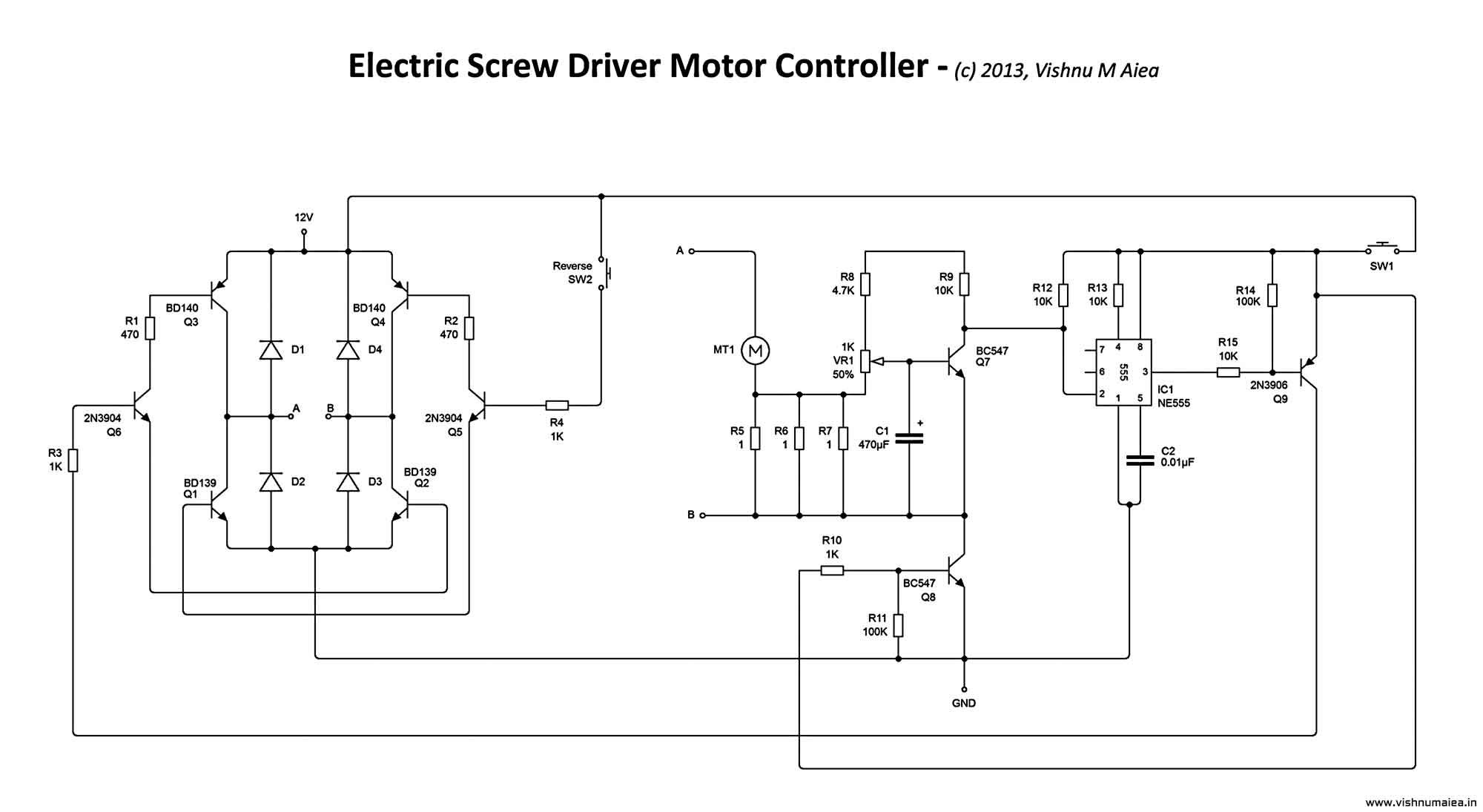 electric screw driver schematic