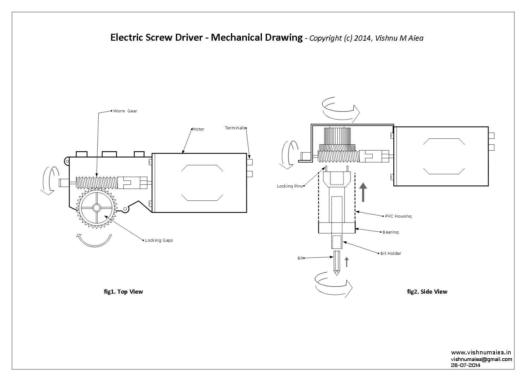 integrating screw driver with motor