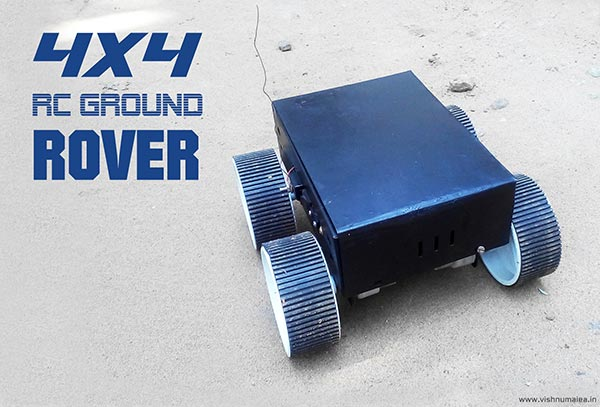 rc four wheel ground rover