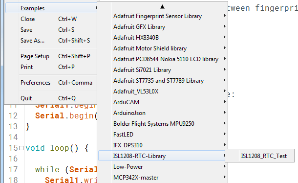 intersil isl1208 rtc opening example sketch from arduino ide