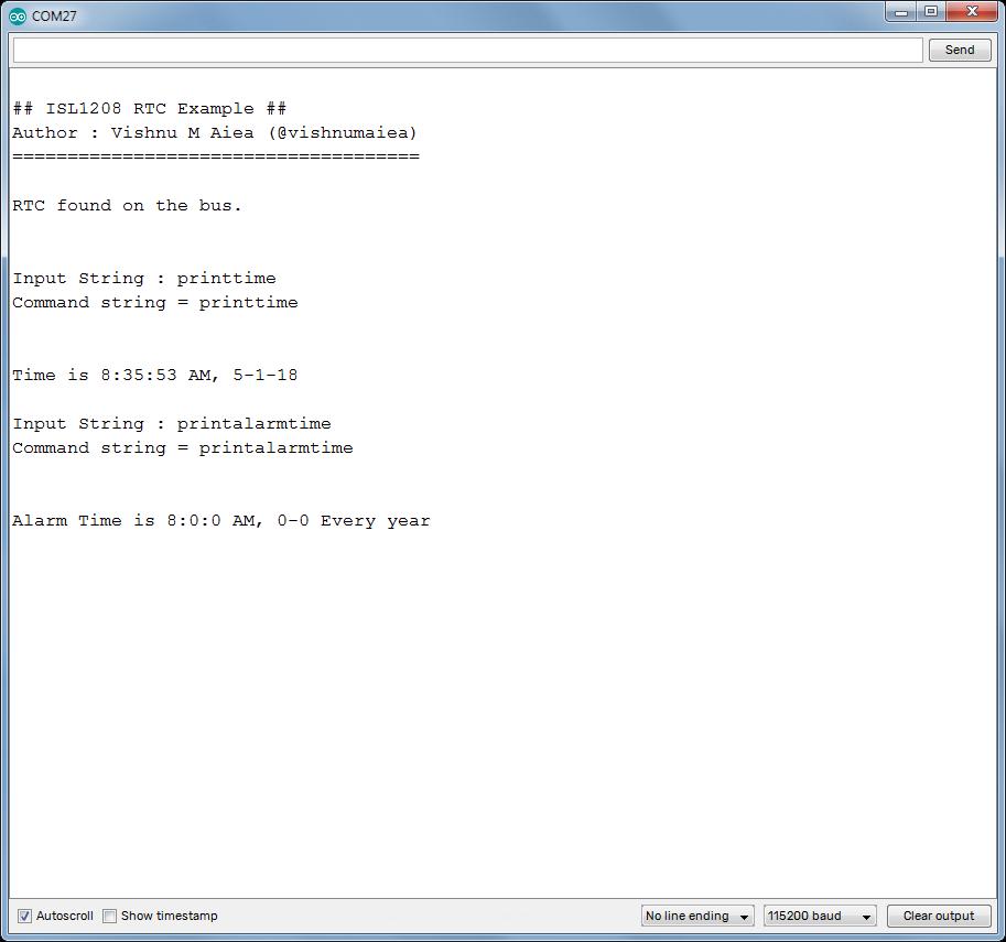 intersil isl1208 rtc arduino example