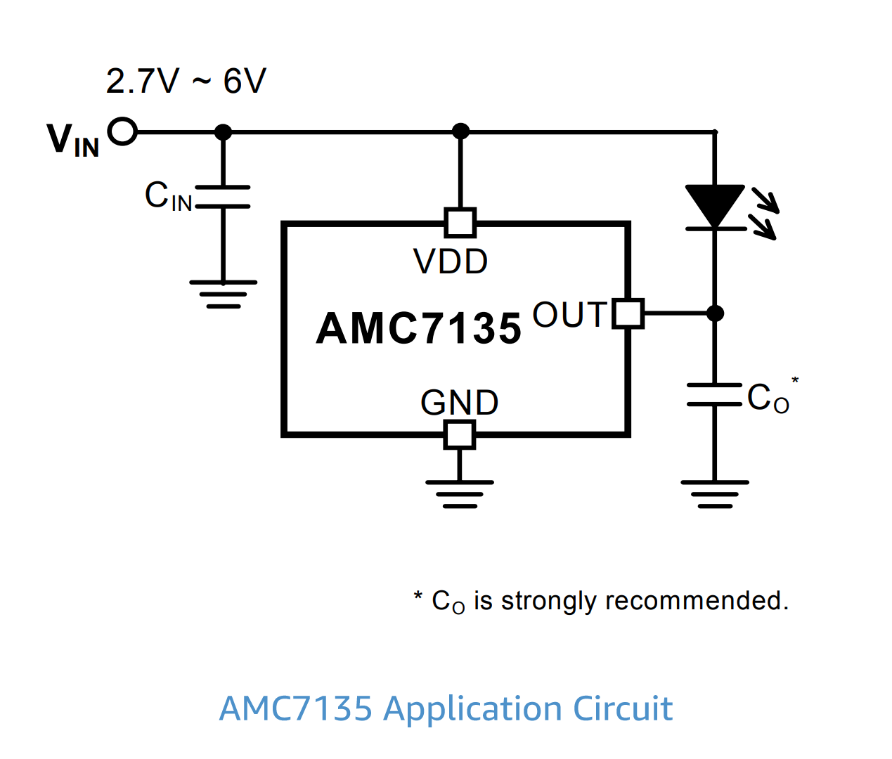 amc7135 led driver circuit