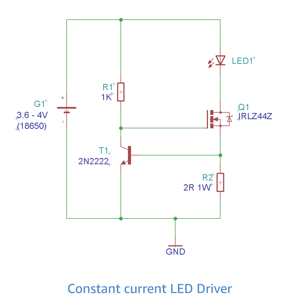 constant current led driver schematic