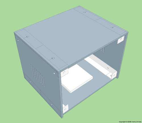 lm317 benchtop power supply 3d model