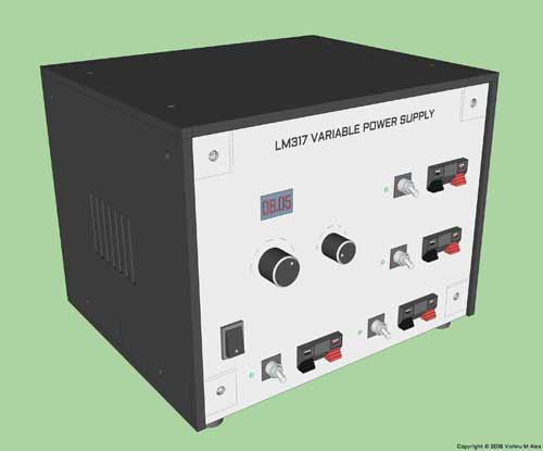 lm317 benchtop power supply lm317 benchtop power supply 3d model