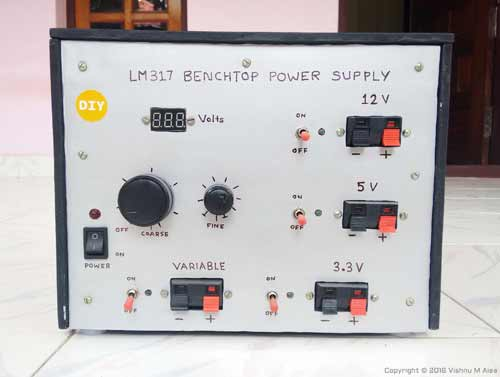 lm317 benchtop power supply construction