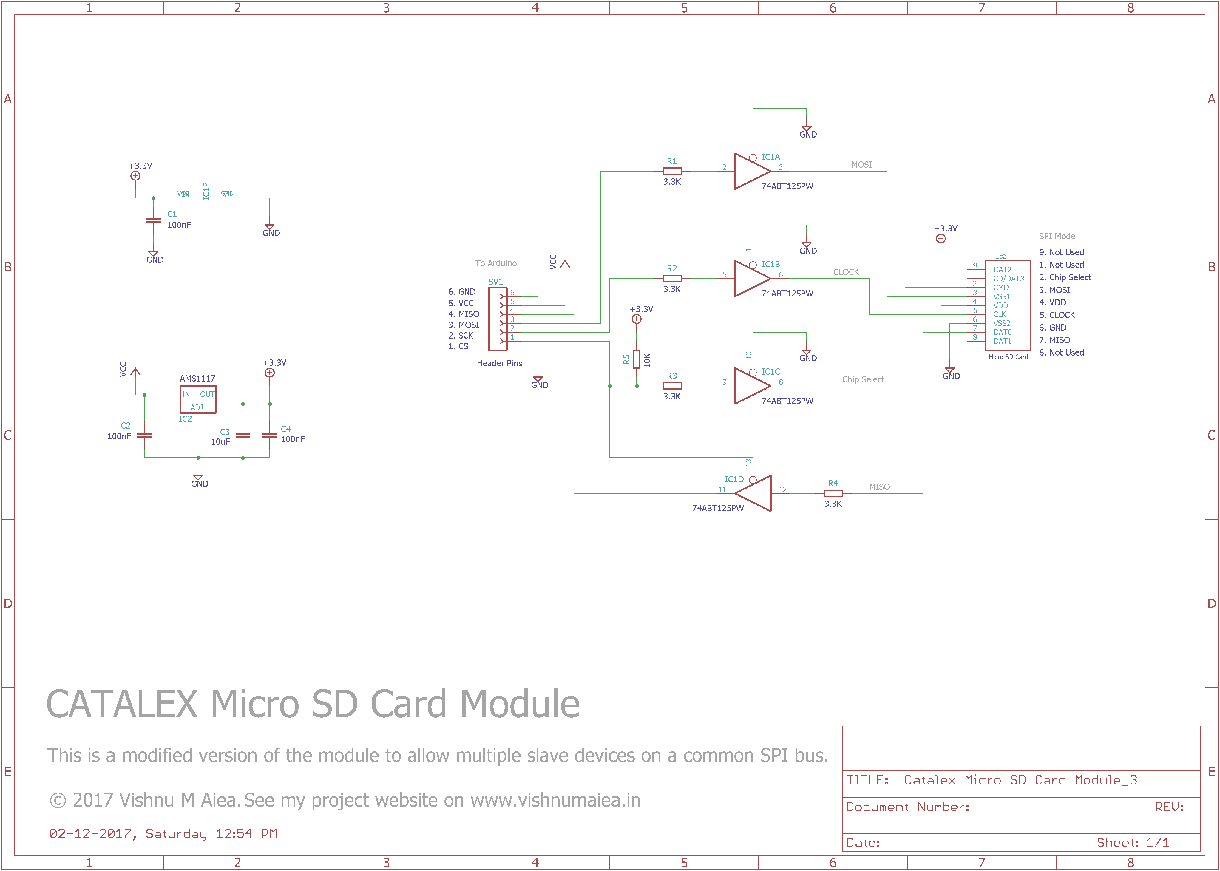 catalex micro sd card module modified schematic