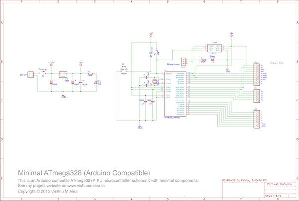 minimal atmega328p schematic
