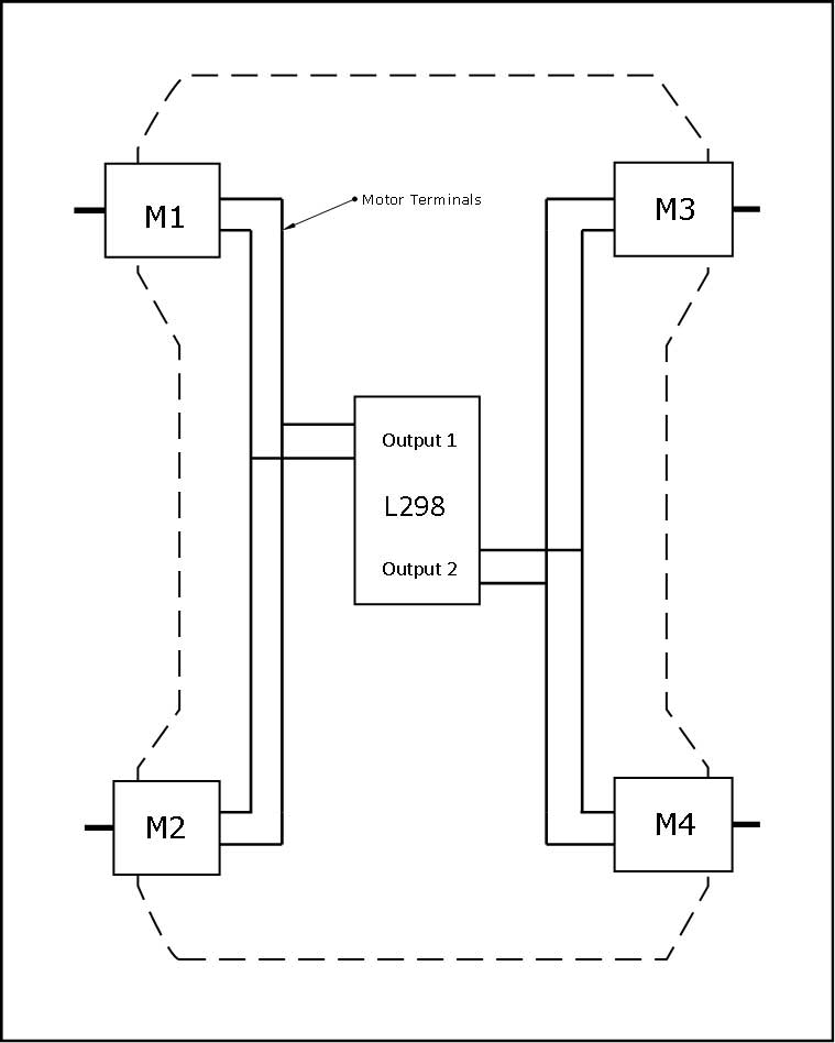 RF Remote Controller for L298 Motor Driver with HT12E
