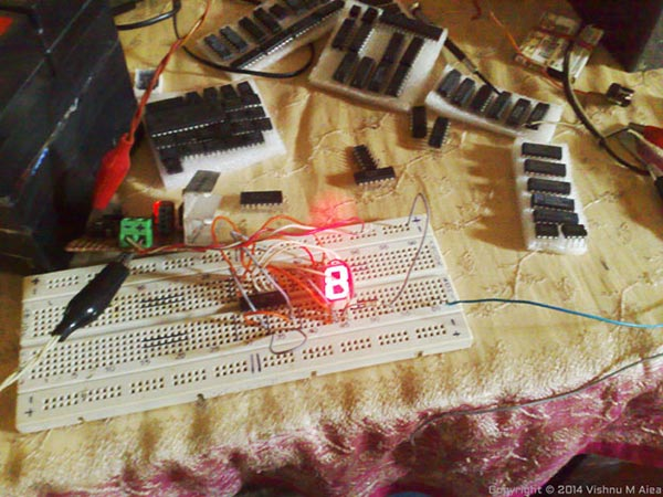 driving seven segment with shift register