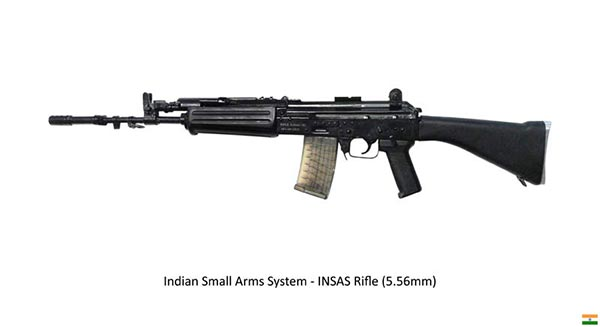 indian army insas standard assault rifle