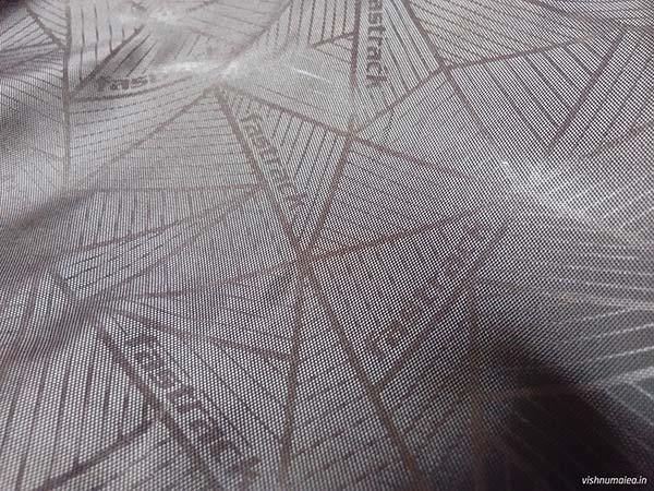 Fastrack Black Offbeat Ergolight backpack review - fabric.