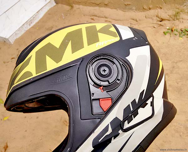 SMK Twister Logo yellow color ECE certified helmet review
