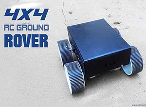 rc four wheel ground rover thumb