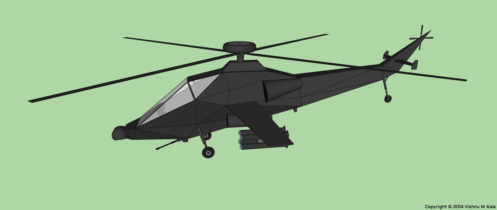 attack helicopter sketchup design