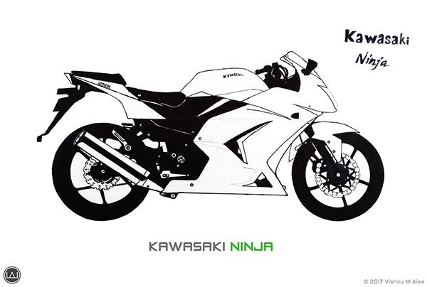 kawasaki ninja drawing