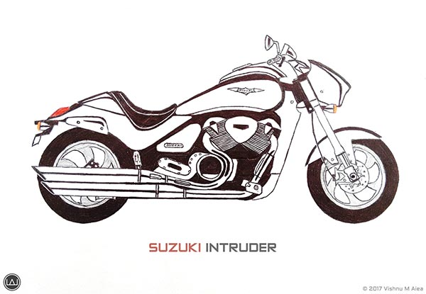 suzuki intruder drawing